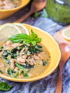 Vegan Orzo White Bean Soup with Pesto Vegan Orzo White Bean Soup  Mein Blog: Alles rund um die Themen Genuss & Geschmack  Kochen Backen Braten Vorspeisen Hauptgerichte und Desserts # Hashtag