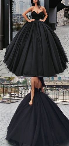 amazing black tulle ball gown prom dresses with corset top,love it!