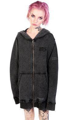 Situationist Hoody vintage wash hoodie. Disturbia Clothing
