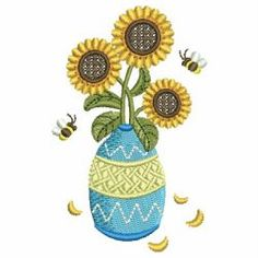 Sunflowers 03 machine embroidery designs