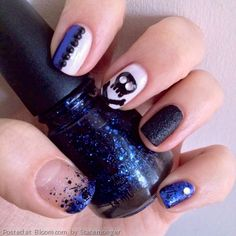 Edgy nail art by Stacemonger