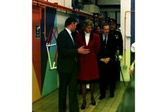GUIDED TOUR:  Princess Diana during her visit to Falcon Cycles
