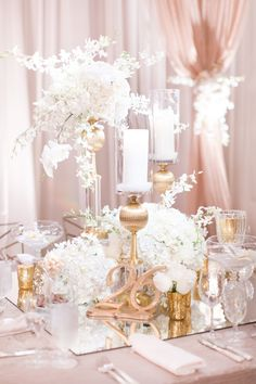 Dreamy exquisite white and neutrals wedding with luxurious florals.