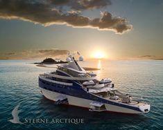 Sterne Arctique has arrived.  thegoliathseries.com    #yachting #expeditionyachts #stevekozloff  #luxury  #megayacht #billionaireyachts #iceclassyachts  #exploreryachts #thegoliathseries #yachtart #yachtdesign #yachtdesigner  #polarexploration #superyacht #renders #safeyacht #longrangecruising #seaworthy #freefalllifeboat #yachttender  #yachtbroker #yachtforsale #boatinternational #dubi #abudabi #couplesyacht  #myfutureyacht  Sterne Arctique Explorer yacht