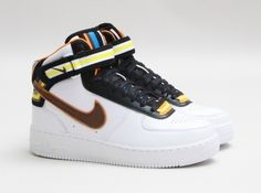 new concept 5585d 3d7ea Nike Air Force 1 Givenchy Riccardo Tisci X Nike R.T. Air Middle Boots  Rihanna Style White Couples Shoes