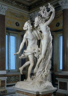 Le Bernin, Apollon et Daphné, marbre, 243 cm de haut, Rome, Galleria Borghese