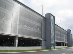 TYLER MESH Parking Garage Facade Exteriors Halifax Stanfield International Airport Stainless Steel Woven Wire