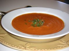 My initial joy in discovering an online recipe for Nordstrom Café's fabulous Roma Tomato Basil soup was quickly quashed — it calls for TWO cups of heavy cream (adding more than 170 grams of f…