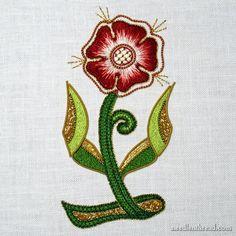 Beginner Goldwork & Silk Rose Finish – NeedlenThread.com Goldwork, Silk Roses, Silk Thread, Guinea Pigs, Needlework, Embroidery, Stitch, Challenge, Mary