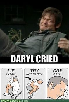 heart = broken! Who doesnt love daryl? :)) so rugged yet sweet. Mm