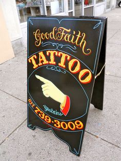 Good Faith Tattoo by Best Dressed Signs, via Flickr