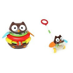 Skip Hop Owl Stacker & Pull Toy Holiday Set. #Skip #Stacker #Pull #Holiday