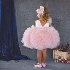 Pink Dresses For Kids, Childrens Party Dresses, Kids Dress Wear, Fancy Dress For Kids, Girls Dresses, 15 Dresses, Baby Pageant Dresses, Ball Gown Dresses, Quinceanera Dresses