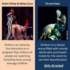 Double Standards...pop stars vs. Rammstein