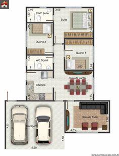 Casa 2 Quartos - 97.5m²