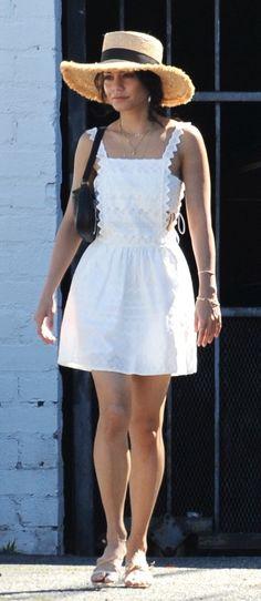 Vanessa Hudgens Vanessa Hudgens, White Dress, Spring Summer, Dresses, Fashion, Gowns, Moda, White Dress Outfit, Fashion Styles
