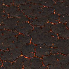 Vulcanic Ground Lava Slits | Hand Painted Textures
