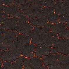 Vulcanic Ground Lava Slits | Hand Painted Textures