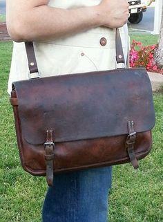WW2 era 1939 Vintage Swiss Army Leather Messenger bag. | eBay