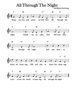 Free Sheet Music - Free Lead Sheet - All Through The Night