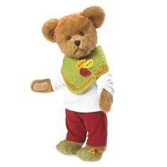 Boyds Bears Willow McLeaf Bear Wearing Fall Harvest Outfit Stuffed Plush Toy