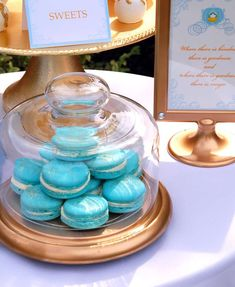 Macarons at a Cinderella birthday party! See more party ideas at CatchMyParty.com!