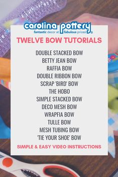 bow tutorials easy bow tutorials twelve bow tutorials bows how to make a bow Diy Bow, Diy Hair Bows, Diy Ribbon, Ribbon Crafts, Wreath Crafts, Ribbon Bows, Ribbons, Ribbon Hair, Ribbon Flower