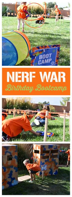 Attention! Nerf War birthday bootcamp