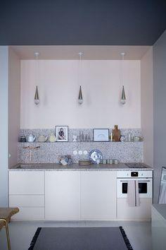 Terrazzo kitchen countertop in Marie Sixtine Hotel