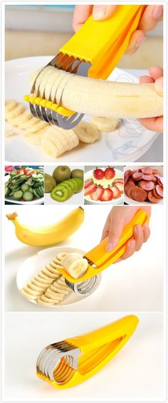 Banana Cutter Cucumber Ham Fruit Slicer. #kitchen_gadgets