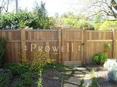 solid wood privacy fence. www.prowellwoodworks.com