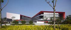 中新生态城滨海小外中学部,天津 / HHD_FUN - 谷德设计网 Public Architecture, Education Architecture, School Architecture, Architecture Details, Modern Architecture, Eco City, School Images, National School, Tianjin