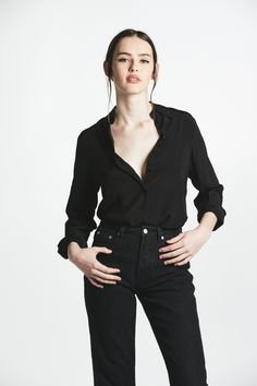 f41c3788138 10 Best Black Silk Blouse images