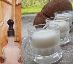 teller-cake: Kókusz likőr házilag Hungarian Recipes, Gourmet Gifts, Cocktail Drinks, Diy Food, Glass Of Milk, Liquor, Biscotti, Drinking, Recipies