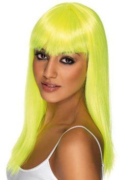 Smiffy's Glamourama Smiffy Wig, Yellow, One Size