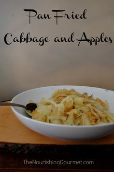 Delicious vegetable sides are easy to make, such as this simple Pan Fried Cabbage and Apple dish.