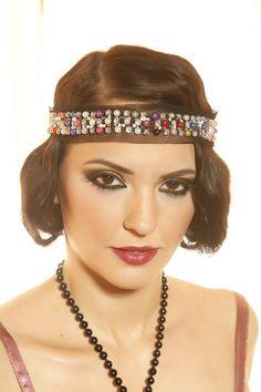 Flapper headband, Head Dress, 1920's head dress, Great Gatsby headband, Pearls headband on Etsy, $25.00