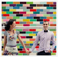 Colorful Engagement Shoot @Wendy Burgett Carr you need a backdrop like this!