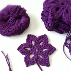 This crochet motif flower comes from the book Beyond the Square Crochet Motifs: 144 circles, hexagons, triangles, squares, and other unexpected shapes.