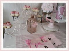 Cupcake holder at a Shabby Chic Baby Shower #shabbychic #babyshower