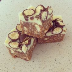 Love Cake! Adapted from the Malteaser Slice recipe that has been seen on Facebook recently! So delicious!
