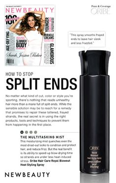 "New Beauty & #Oribe's Royal Blowout show you ""How To Stop Split Ends"" #BUZZSALON #IOWACITY #BESTINBEAUTY"