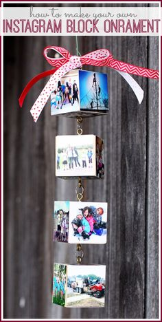 make your own Instagram Block Ornament ( I love this idea!!) - Sugar Bee Crafts