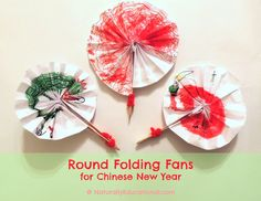 How to Make Round, Circular Folding Fans for a Chinese New Year Kids Craft | Naturally Educational