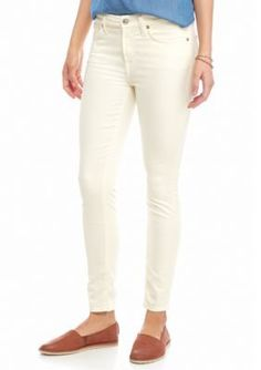 7 For All Mankind Winter White Color Sateen Ankle Skinny