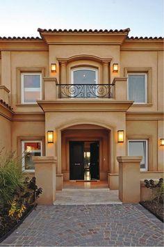 Fachaleta rustica para fachadas home room pinterest for Casa villa decoracion exterior fachada