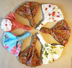 Купить Косынка-бандана для девочки - комбинированный, цветочный, косынка для…