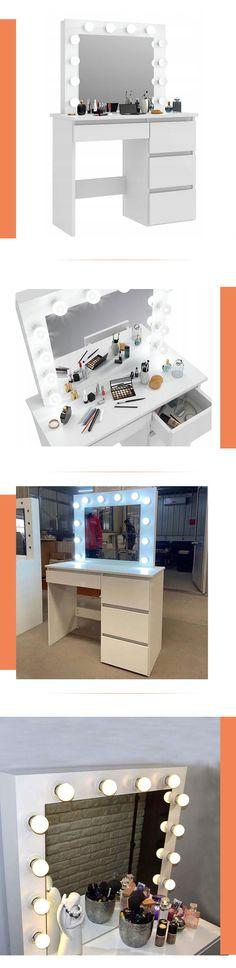 Source Makeup Vanity Dressing Table Dresser Desk with LED Lights and Large Drawer for Bedroom,White on m.alibaba.com Dressing Mirror, Dressing Table, Cheap Vanity, Bedroom Furniture, Home Furniture, White Dressers, Girls Room Paint, Dresser Desk, Large Drawers