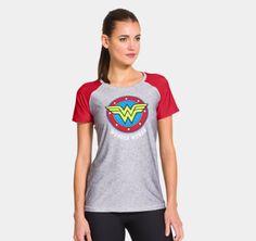Women's Under Armour® HeatGear® Sonic Wonder Woman T-Shirt   1251218   Under Armour US