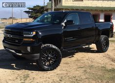 156530 1 2016 silverado 1500 chevrolet suspension lift 6 kmc xd825 black aggressive 1 outside fender.jpg